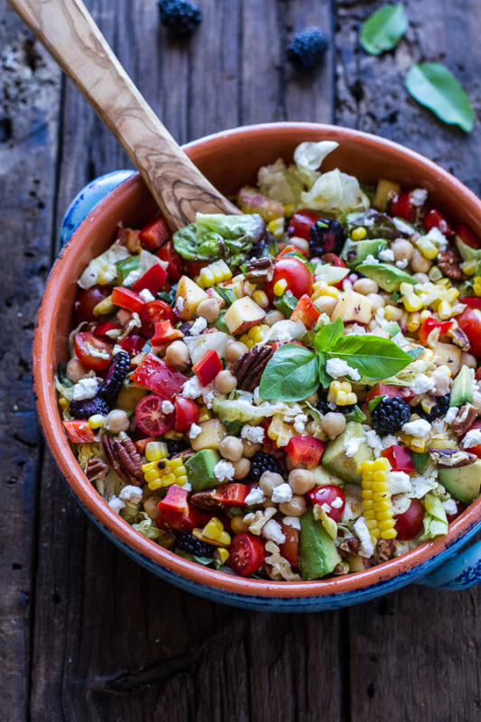 http://www.halfbakedharvest.com/easy-summer-herb-chickpea-chopped-salad-goat-cheese/