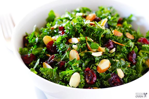 http://www.gimmesomeoven.com/kale-salad-warm-cranberry-vinaigrette-recipe/