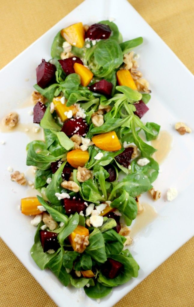 Healthy Roasted Beet Salad with Feta and Toasted Walnuts Recipe - All ...