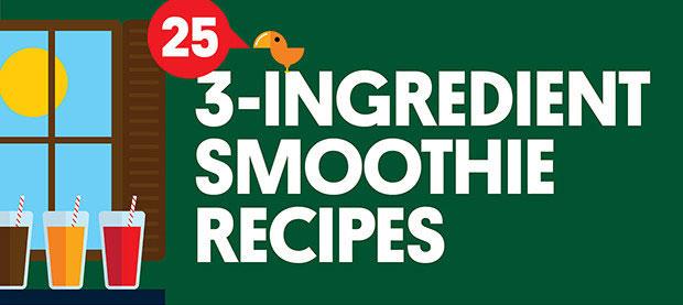 three ingredient smoothies all top food