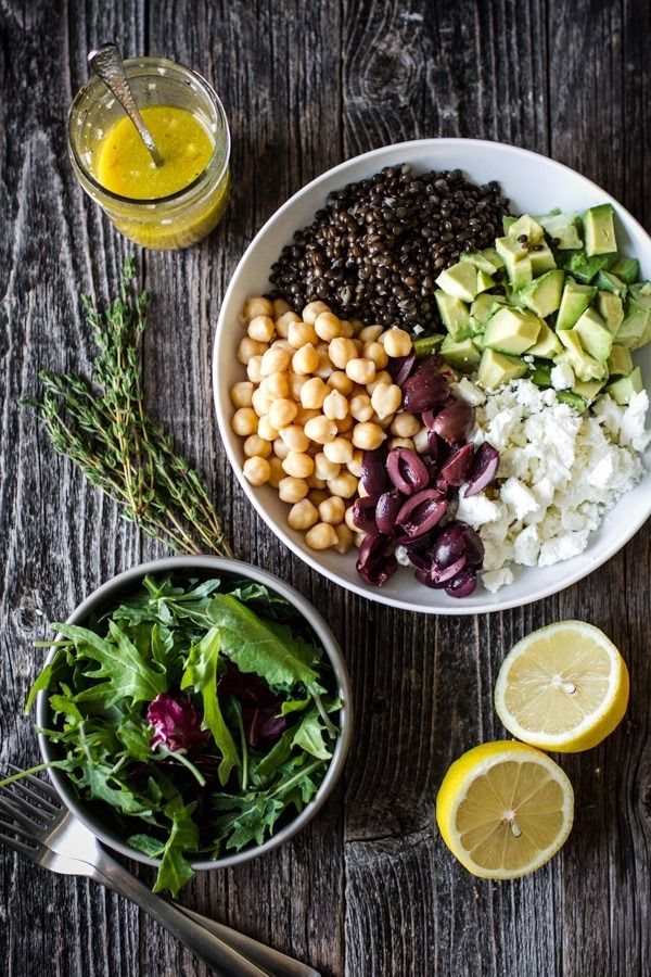 chickpea-lentil-salad-with-shallot-white-wine-vinaigrette