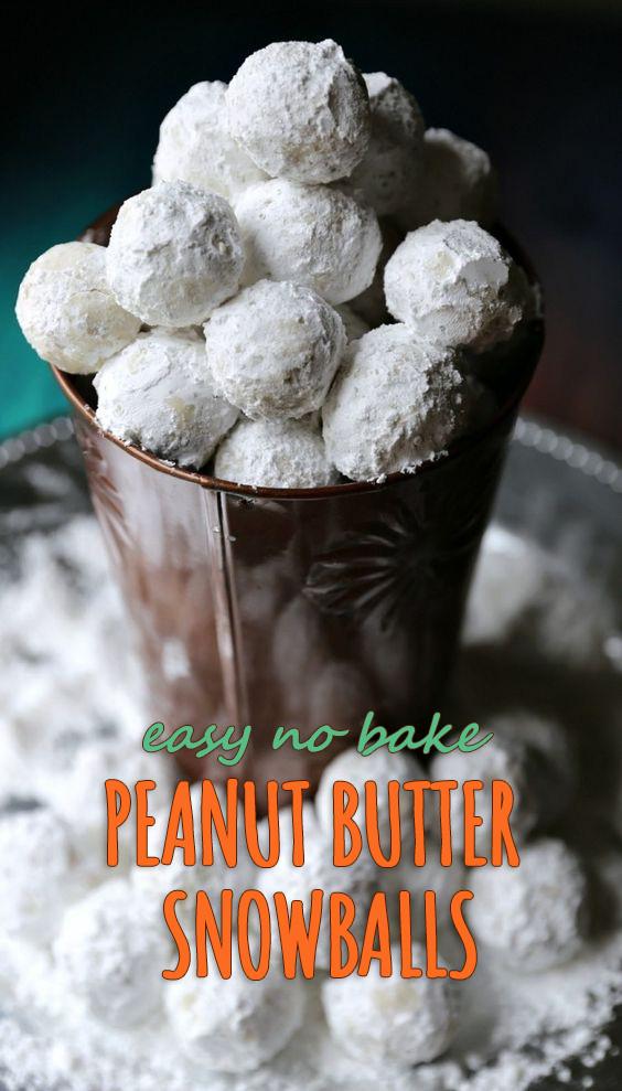 Easy No Bake Peanut Butter Snowballs Recipe