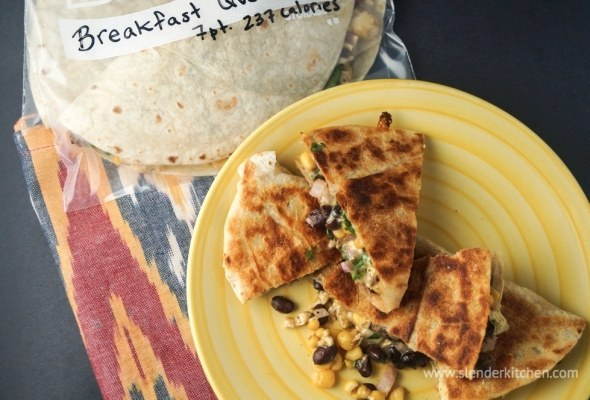 http://www.slenderkitchen.com/frozen-breakfast-quesadillas/